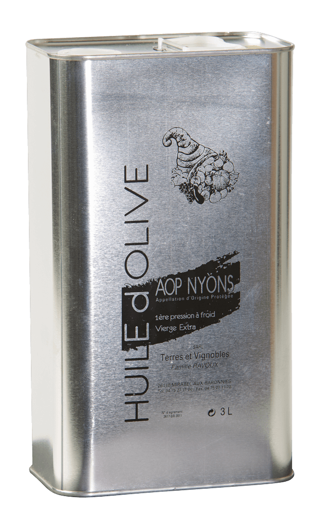 Huile olive AOP Nyons 30 litres