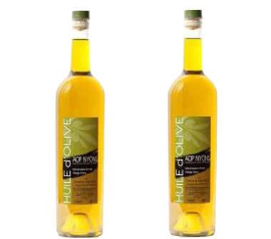 2 bouteilles d'huile olive AOP Nyons 75 cl