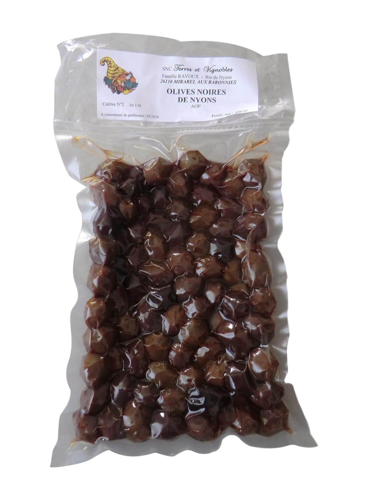 Produits locaux : olive noire AOP Nyons 250 grammes
