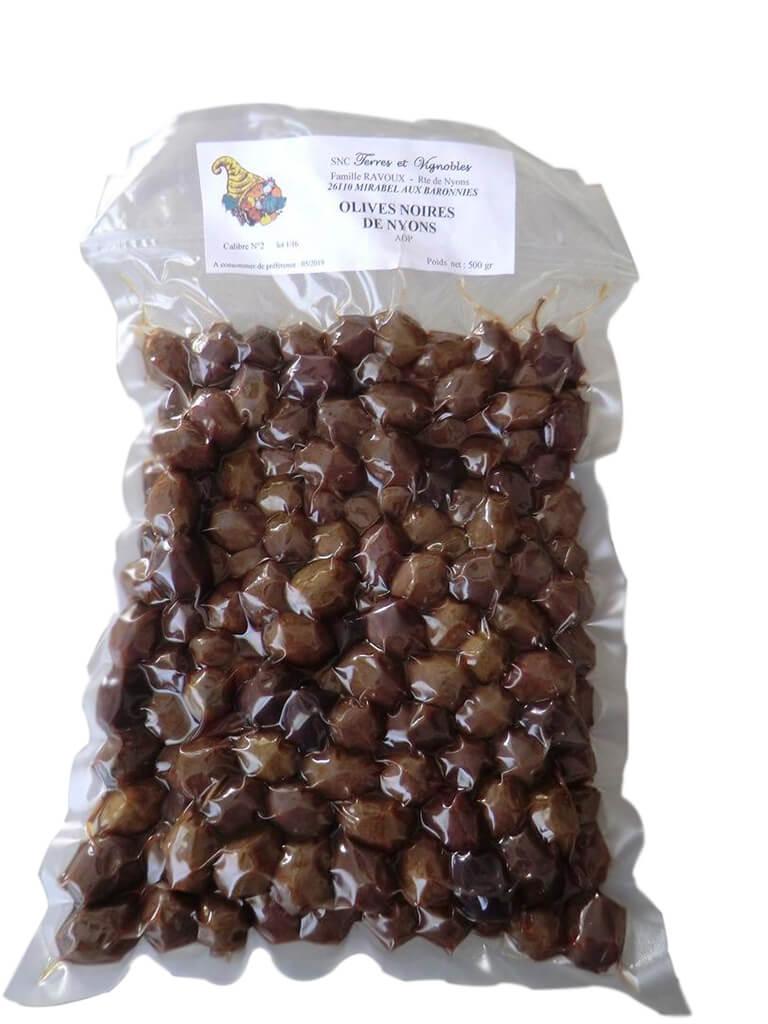 Produits locaux : olive noire AOP Nyons 500 grammes