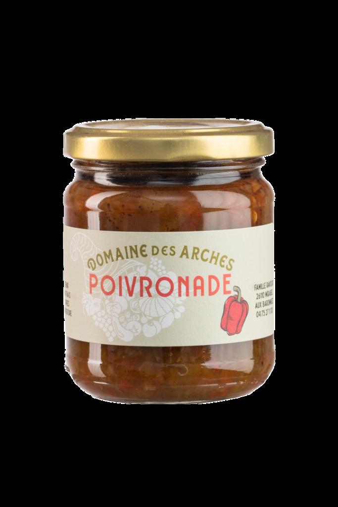 tartinable à base de poivrons du domaine des arches près de nyons et vaison la romaine, en drôme provençale, dans les baronnies