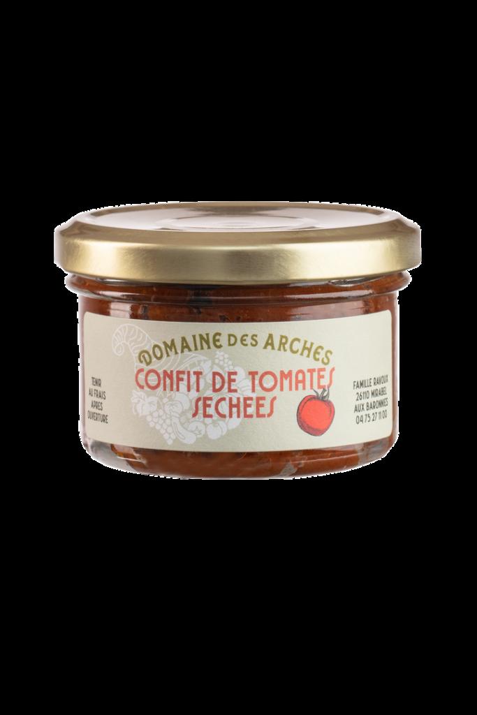 tartinable à base de tomates séchées du domaine des arches près de nyons et vaison la romaine, en drôme provençale, dans les baronnies