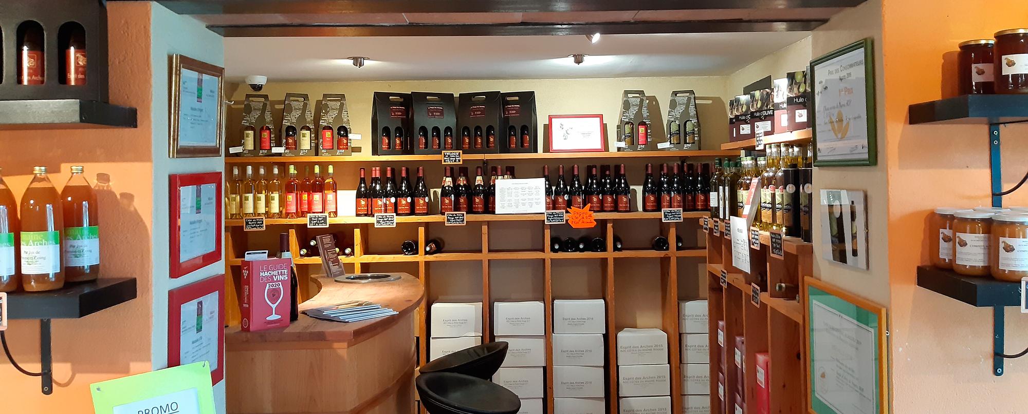 huile d'olive AOP - vin Côtes du Rhône